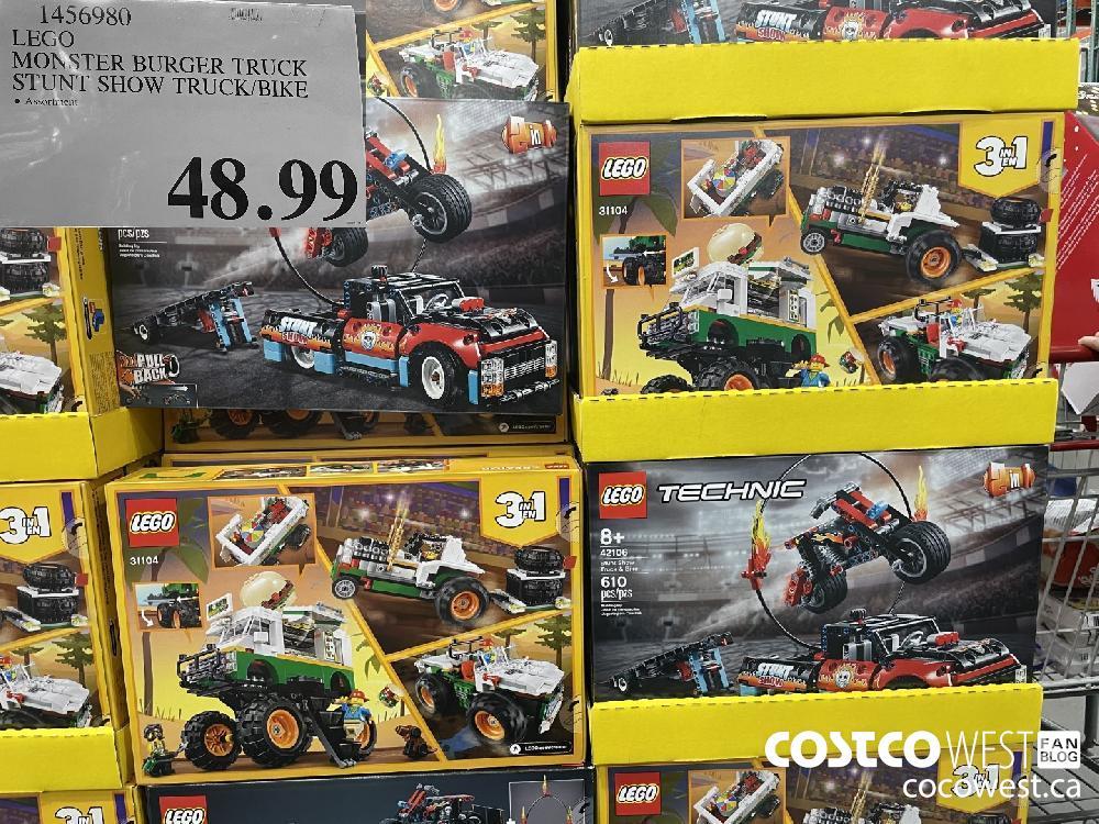 1456980 LEGO MONSTER BURGER TRUCK STUNT SHOW TRUCK/BIKE $48.99