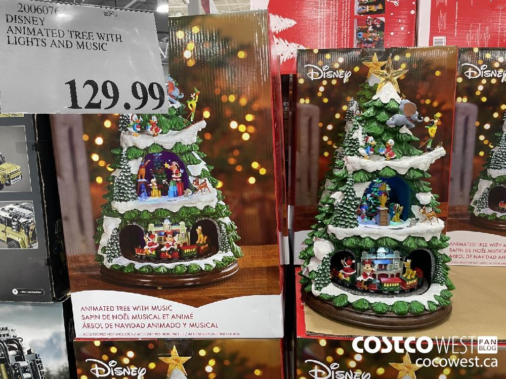 2006076 DISNEY ANIMATED TREE WITH LIGHTS AND MUSIC $129.99