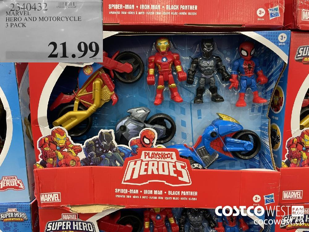 2340432 MARVEL HERO AND MOTORCYCLE 3 PACK $21.99