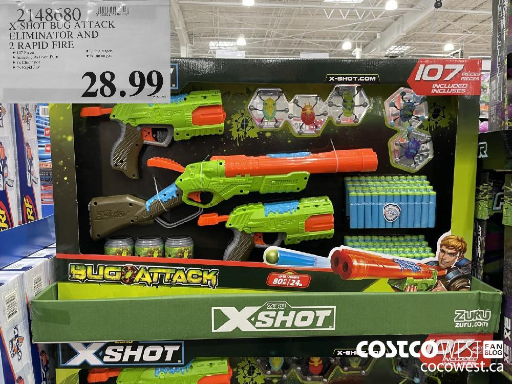 2148680 X-SHOT BUG ATTACK ELIMINATOR AND 2 RAPID FIRE $28.99