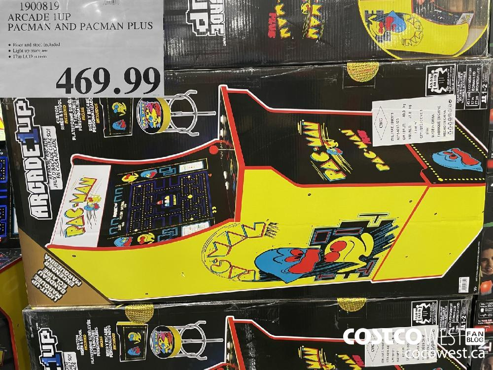 1900819 ARCADE 1UP PACMAN AND PACMAN PLUS $469.99