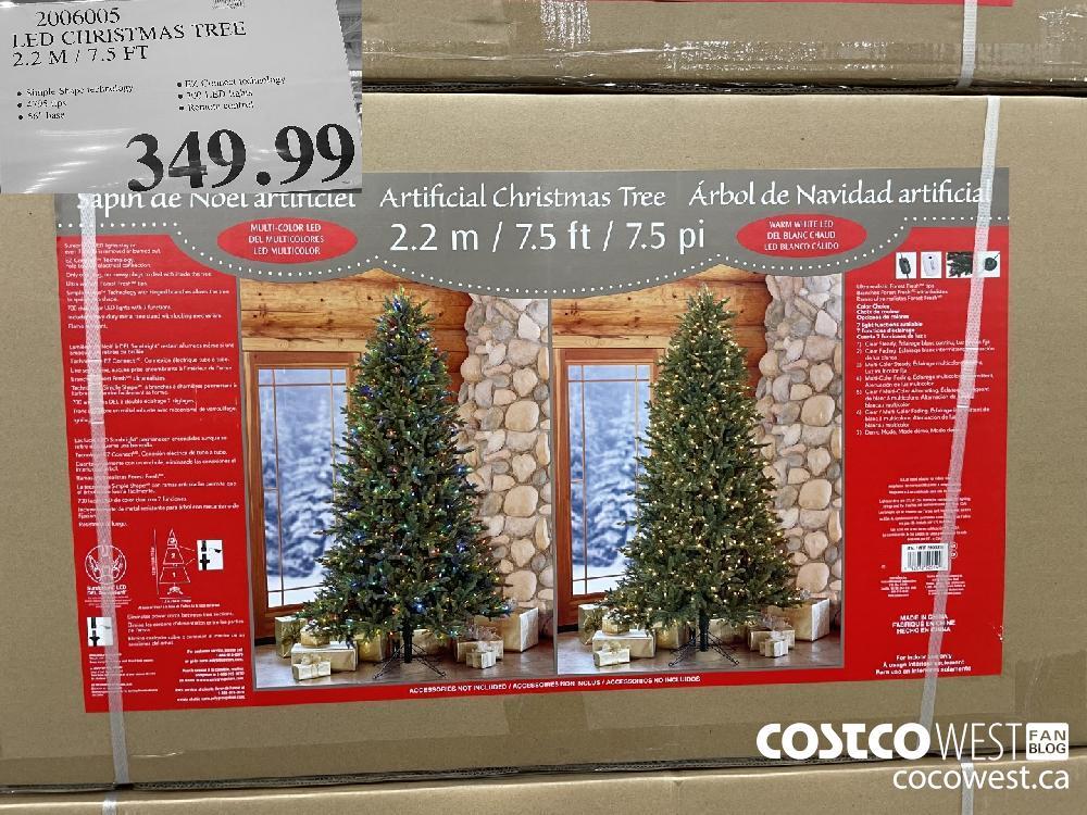 2006005 LED CHRISTMAS TREE 2.2 M / 7.5 FT $349.99