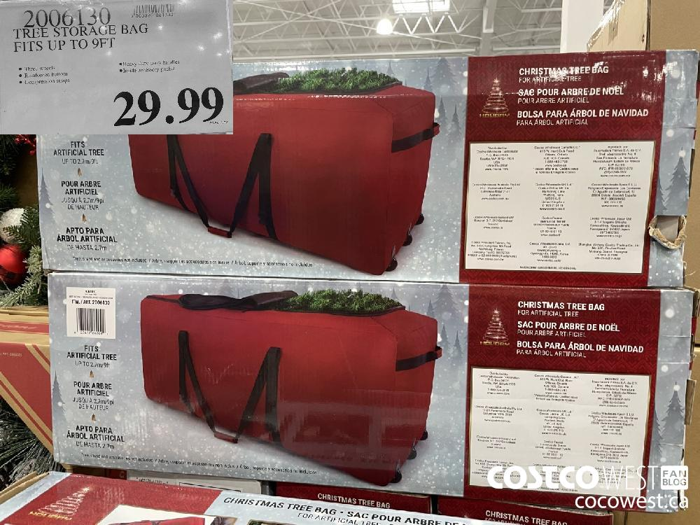 2006130 TREE STORAGE BAG FITS UP TO 9FT $29.99