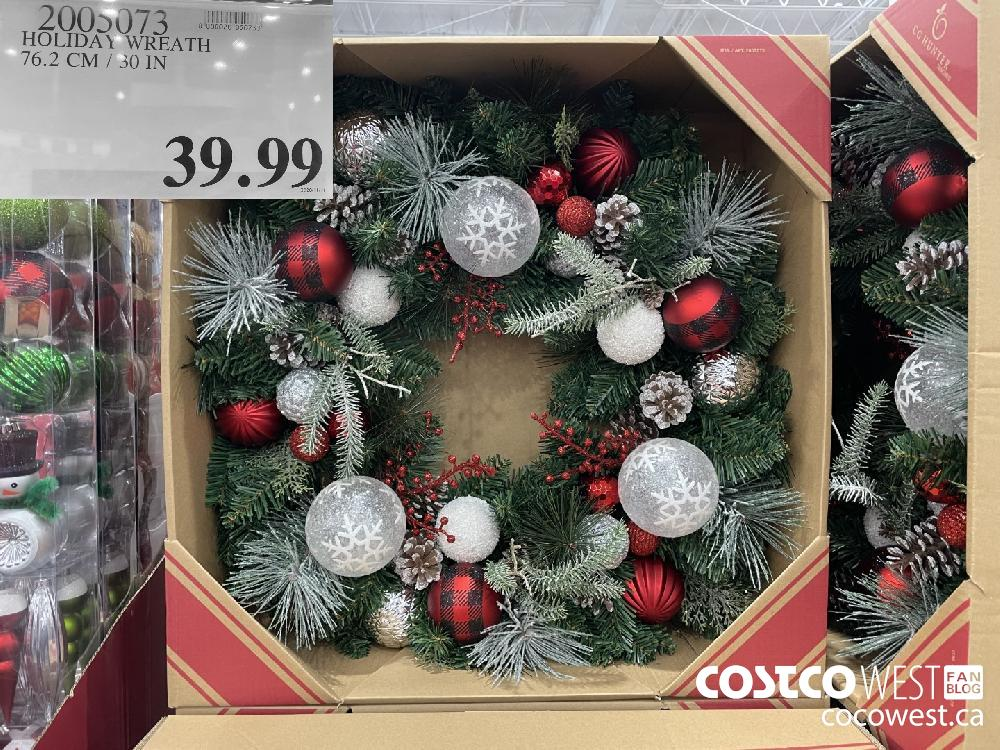2005073 HOLIDAY WREATH 76.2 CM / 30 IN $39.99