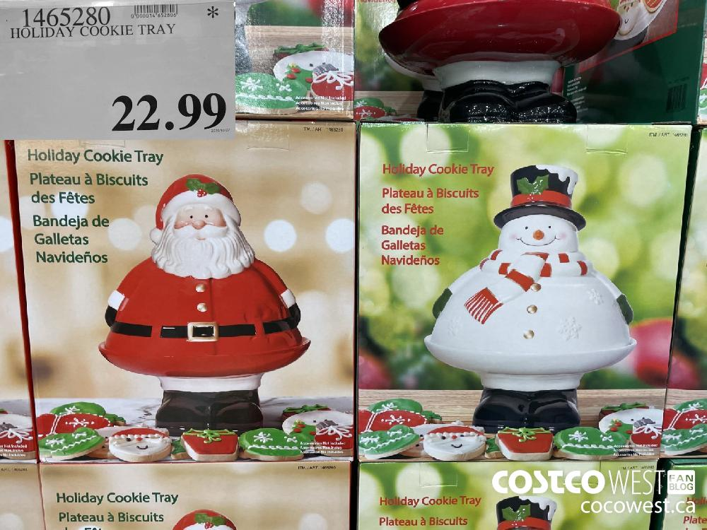1465280 HOLIDAY COOKIE TRAY $22.99