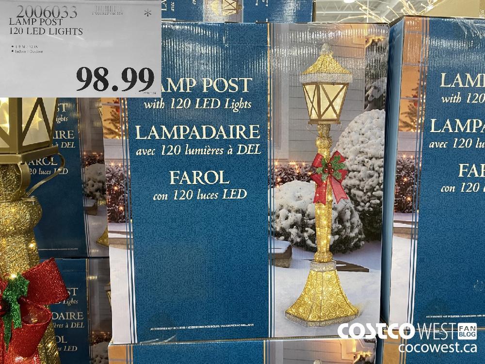 2006033 LAMP POST 120 LED LIGHTS $98.99