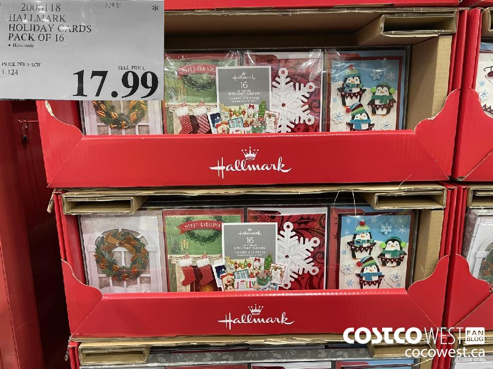 2006118 HALLMARK HOLIDAY CARDS PACK OF 16 $47.99