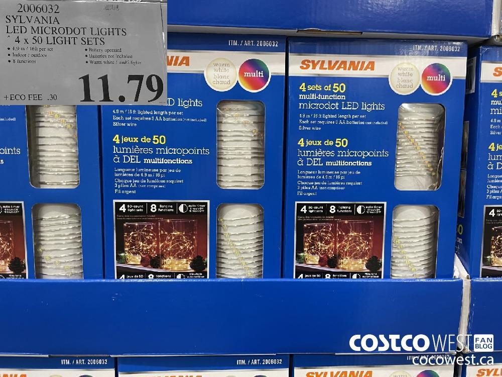2006032 SYLVANIA LED MICRODOT LIGHTS 4x 50 LIGHT SETS $11.79