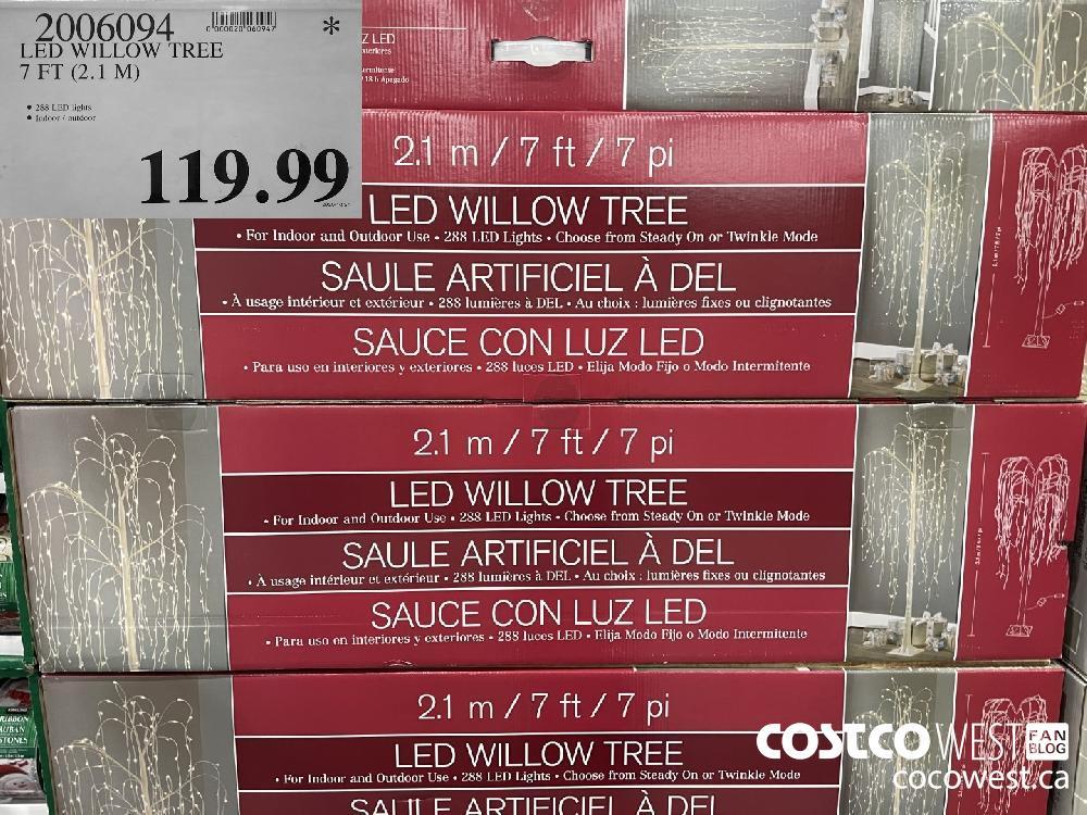 92006094 LED WILLOW TREE 7 FT (2.1 M) $119.99