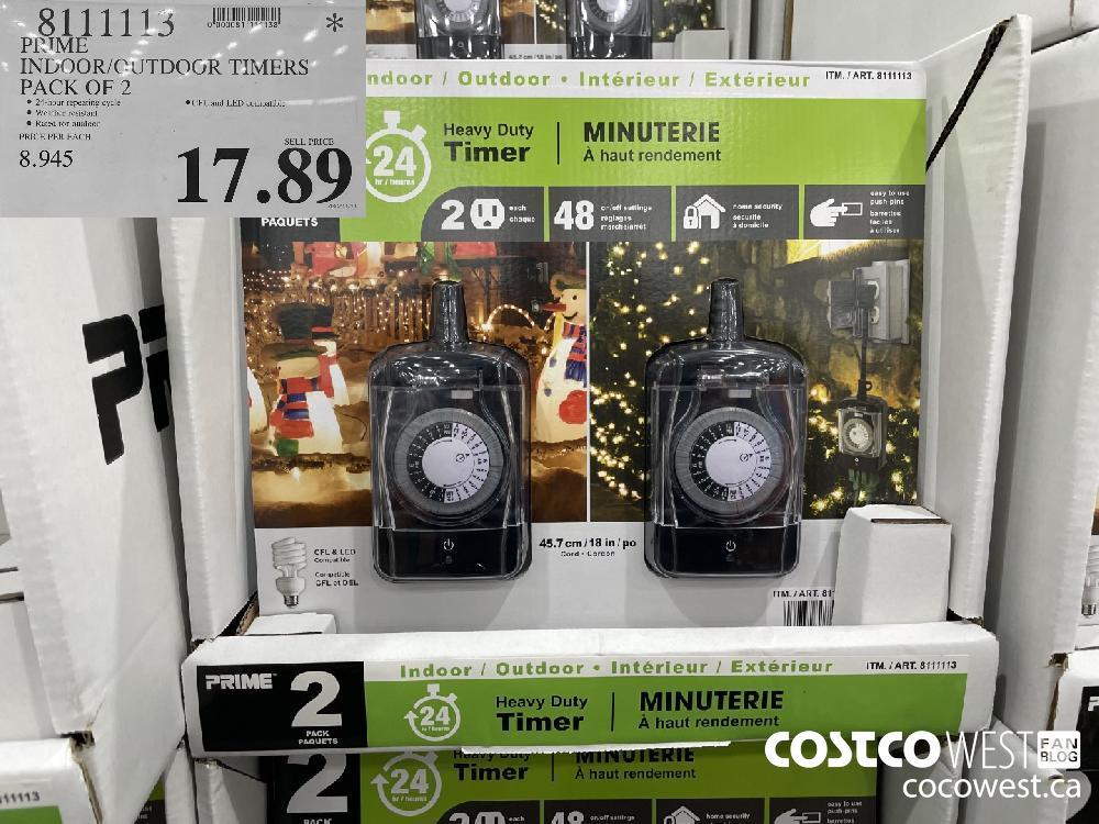 8111113 PRIME INDOOR/OUTDOOR TIMERS PACK OF 2 $17.89