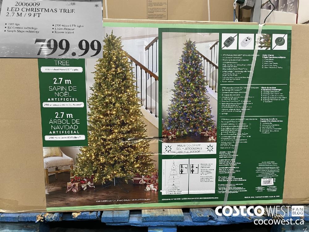 2006009 LED CHRISTMAS TREE 27 M / 9 FT $499.99