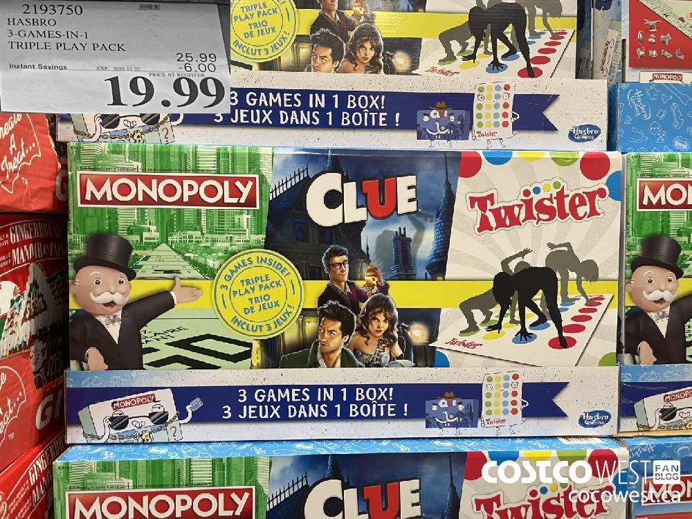 2193750 HASBRO 3-GAMES-IN-1 TRIPLE PLAY PACK EXP. 2020 11-22 $19.99