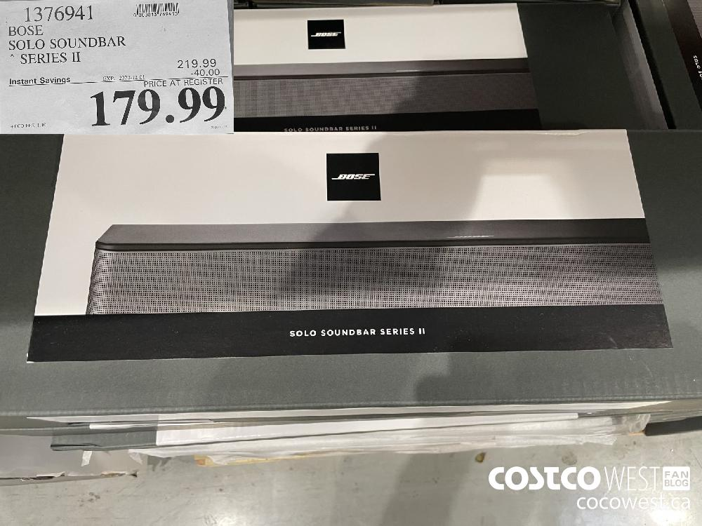 1376941 BOSE SOLO SOUNDBAR * SERIES Il EXP. 2020-12-01 $179.99