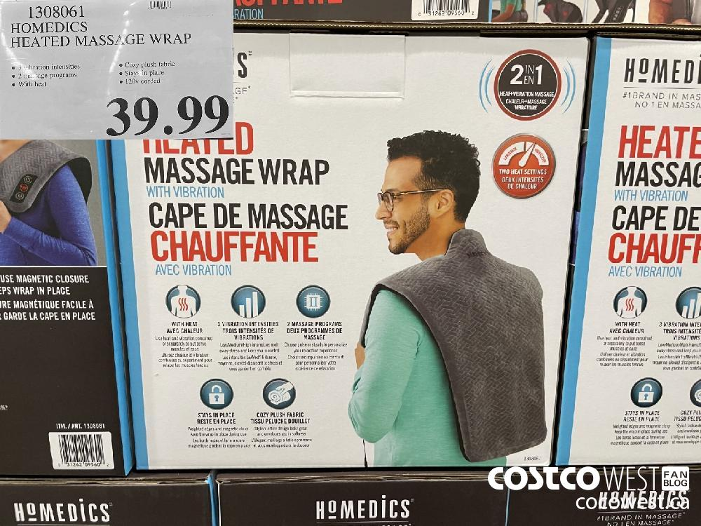 1308061 HOMEDICS HEATED MASSAGE WRAP $39.99