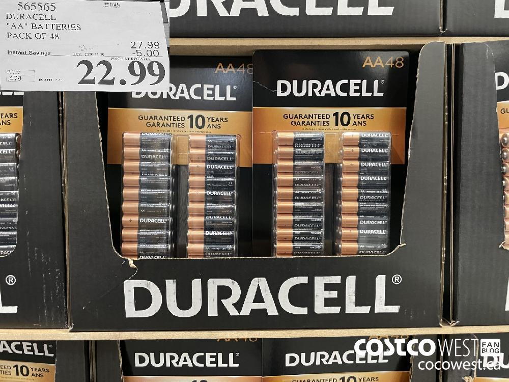 "565565 DURACELL ""AA"" BATTERIES PACK OF 48 