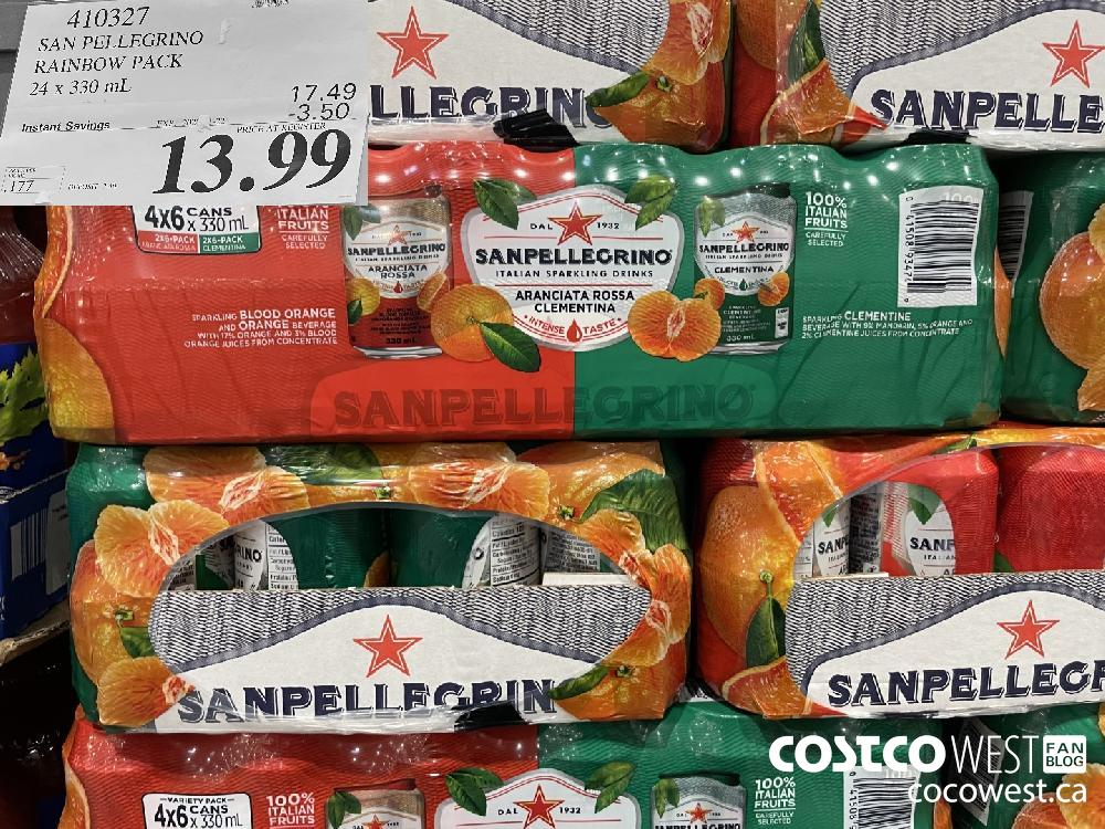 410327 SAN PELLEGRINO RAINBOW PACK 24 x 330 mL EXP. 2020 11-22 $13.99
