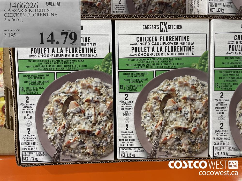 1466026 CAESAR'S KITCHEN CHICKEN FLORENTINE 2 X 565 g $14.79