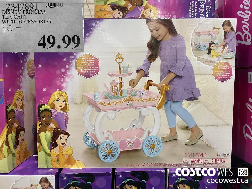 2347891 DISNEY PRINCESS TEA CART WITH ACCESSORIES $49.99