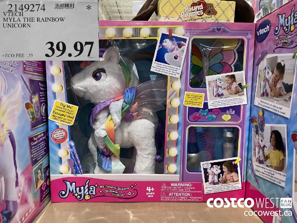 2149274 VTECH MYLA THE RAINBOW UNICORN $39.97