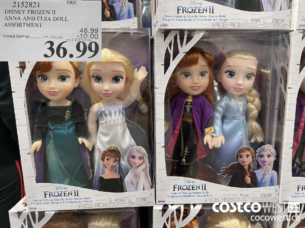 2152821 DISNEY FROZEN II ANNA AND ELSA DOLL ASSORTMENT EXP. 2020-11-25 $36.99