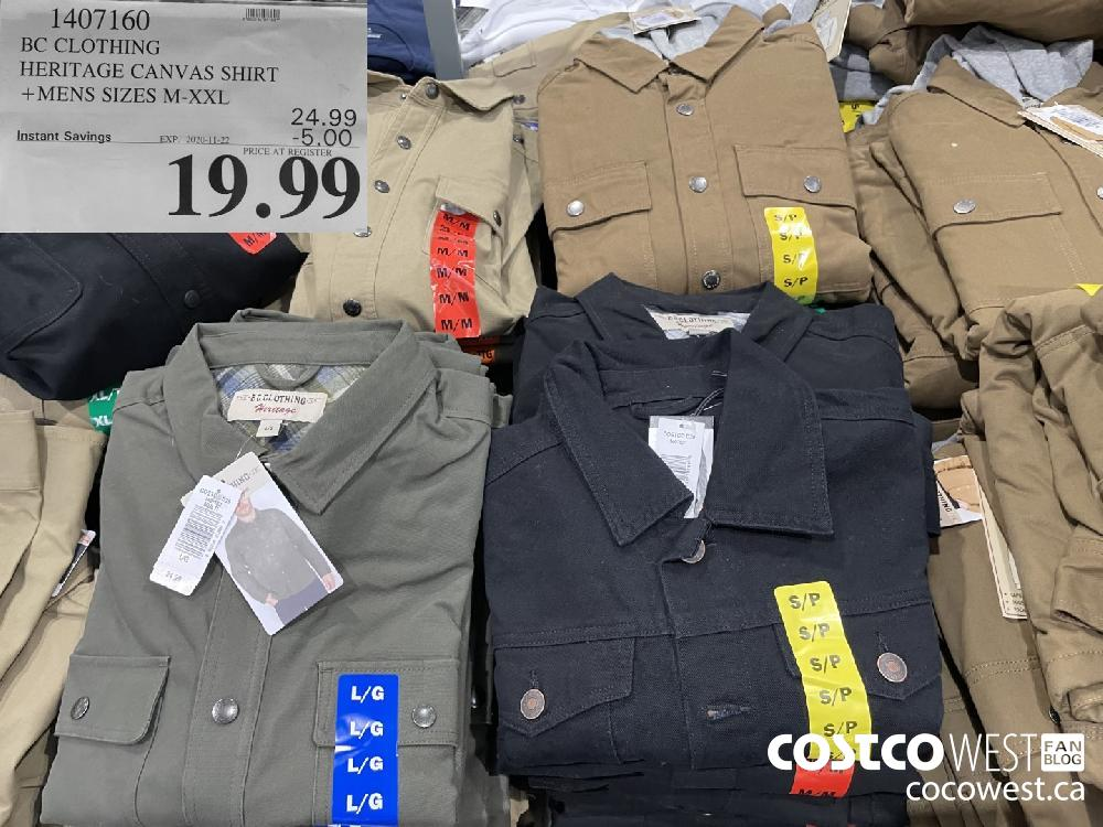 1407160 BC CLOTHING HERITAGE CANVAS SHIRT MENS SIZES M-XXL EXP. 2020-11-22 $19.99