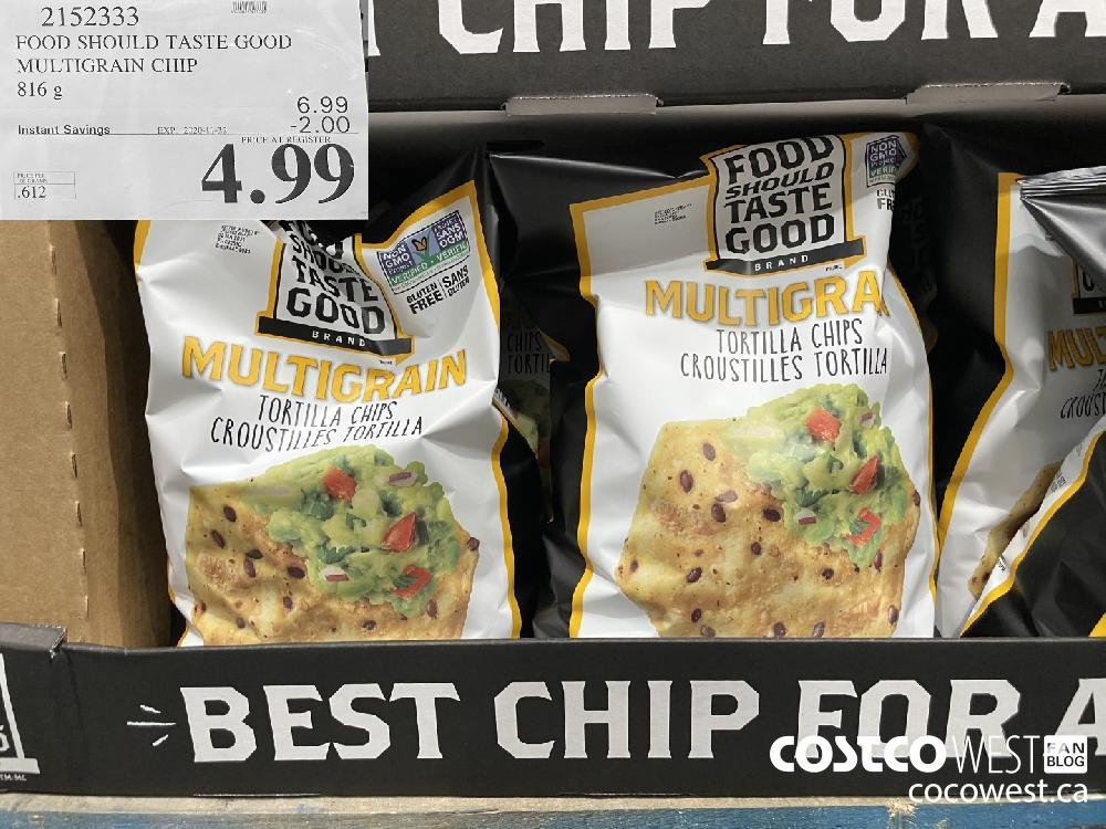 2152333 FOOD SHOULD TASTE GOOD MULTIGRAIN CHIP 816 g EXP. 2020-11-22 $4.99