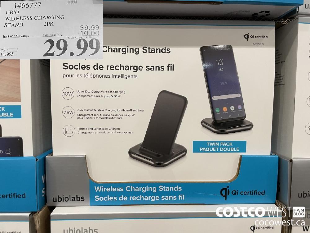 1466777 UBIO WIRELESS CHARGING STAND 2PK EXP. 2020-12-06 $99.99