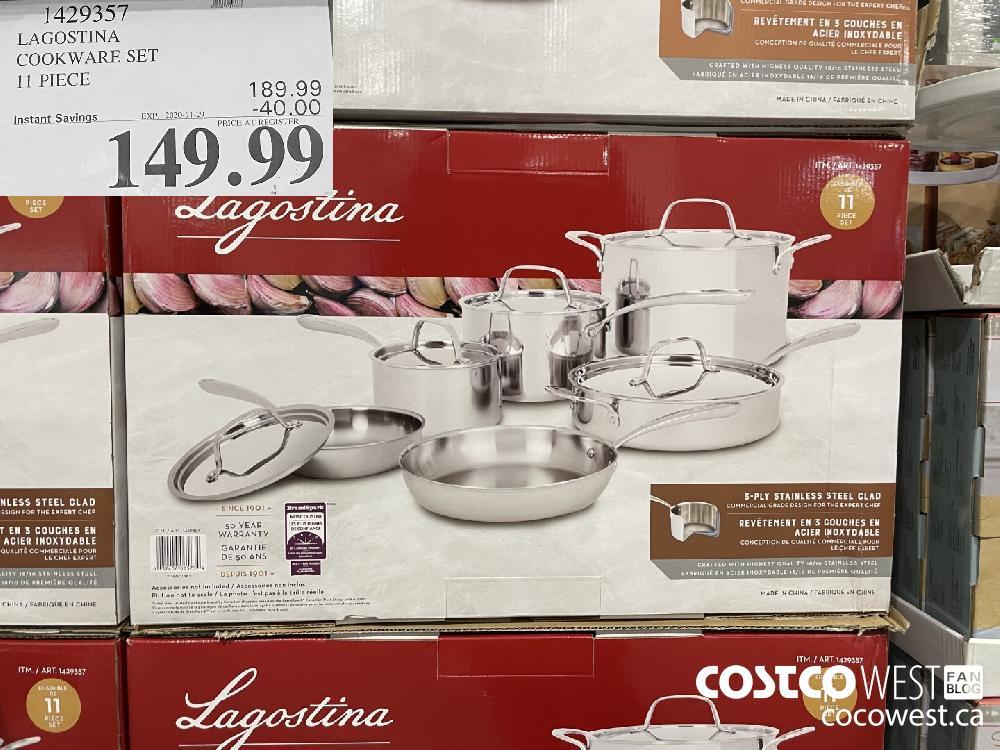1429357 LAGOSTINA COOKWARE SET 11 PIECE EXP._2020-11-29 $149.99