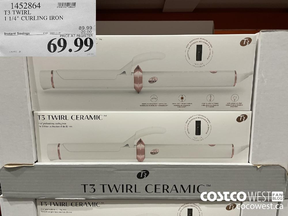 """1452864 T3 TWIRL 1 1/4"""" CURLING IRON EXP. 2020-11-29 $69.99"""