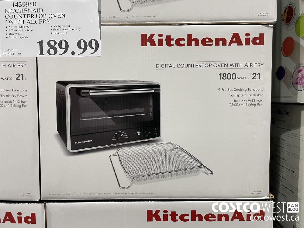 1439950 KITCHENAID COUNTERTOP OVEN WITH AIR FRY $189.99
