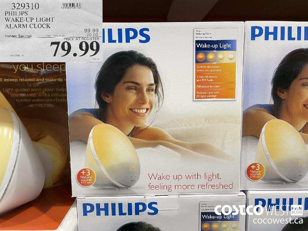 329310 PHILIPS WAKE-UP LIGHT ALARM CLOCK EXP. 2020-11-29 $79.99