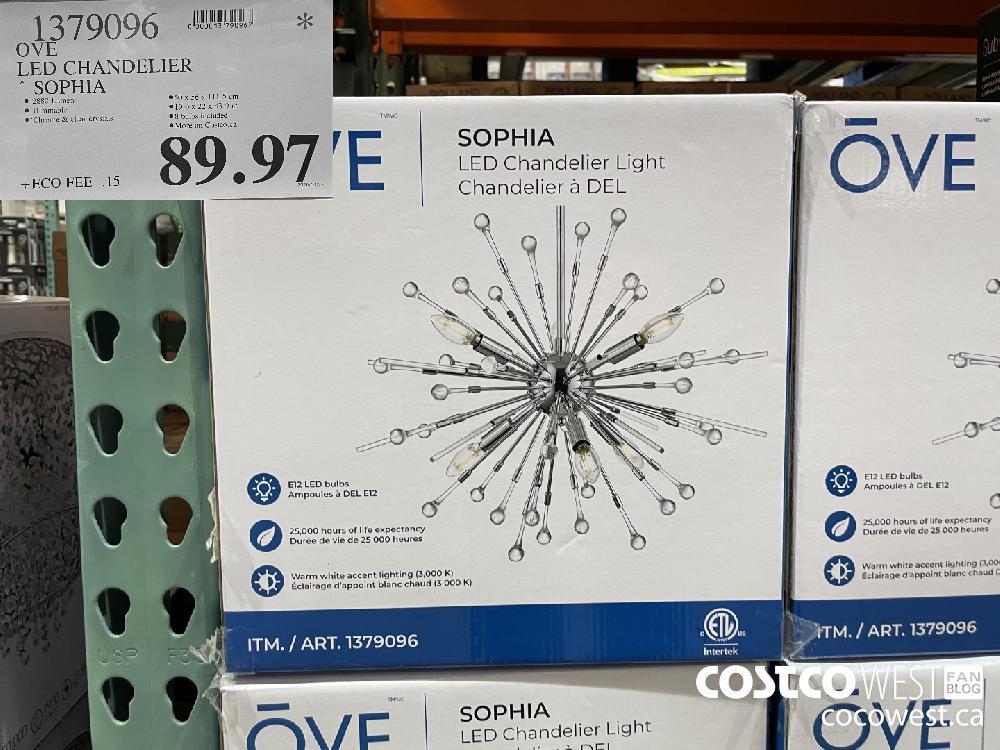 1379096 OVE LED CHANDELIER * SOPHIA $89.97