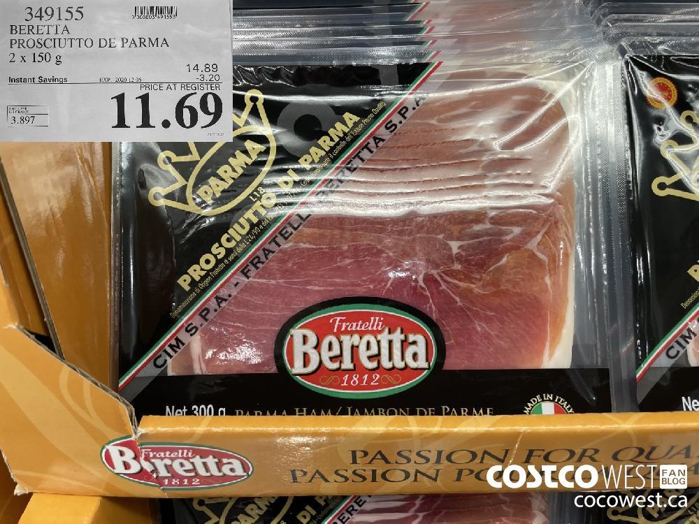 349155 BERETTA PROSCIUTTO DE PARMA 2 x 150 g EXP. 2020-12-06 $11.69