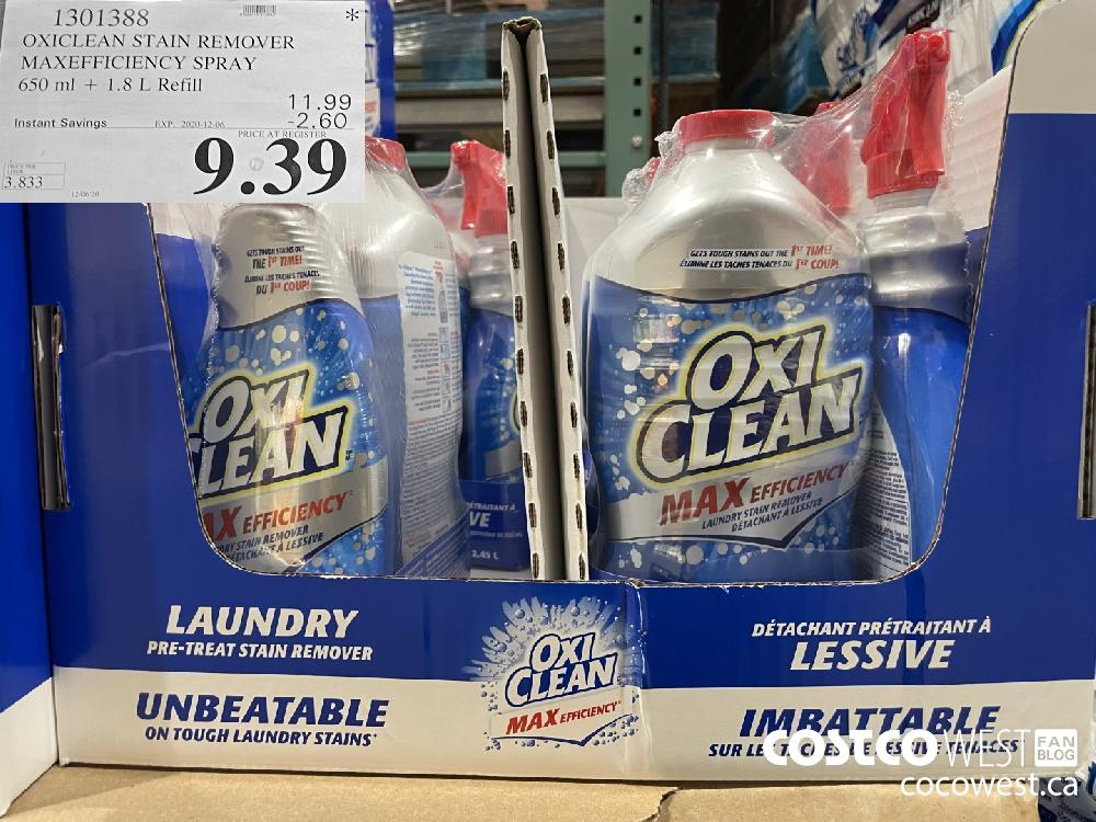 1301388 OXICLEAN STAIN REMOVER MAXEFFICIENCY SPRAY 650 ml 1.8 L Refill EXP. 2020-12-06 $9.39