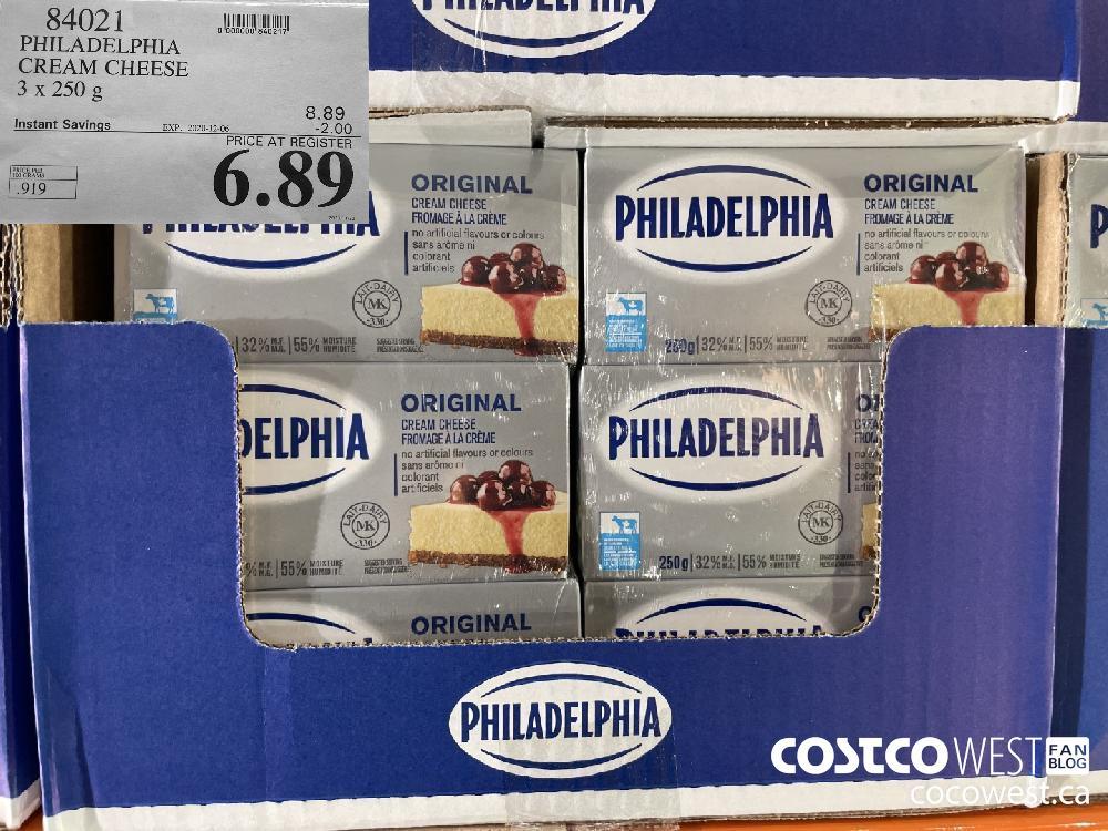 84021 PHILADELPHIA CREAM CHEESE 3 x 250 g EXP. 2020-12-06 $6.89