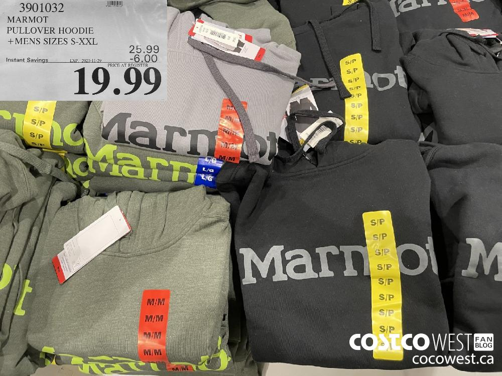 3901032 MARMOT PULLOVER HOODIE MENS SIZES S-XXL ' EXP. 2020-11-29 $19.99