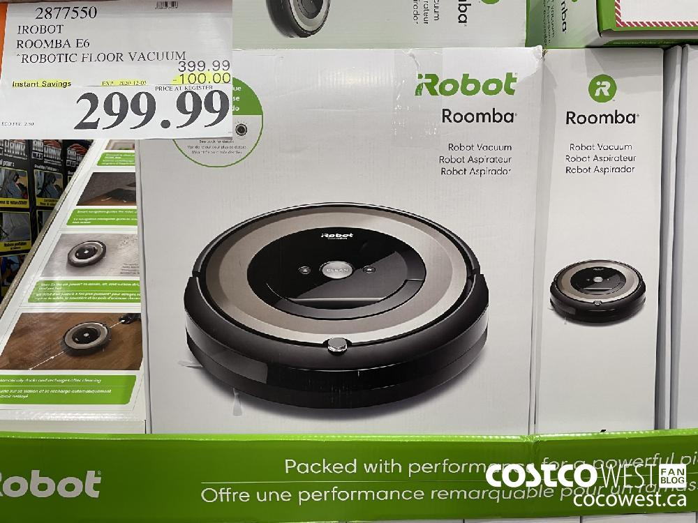 2877550 IROBOT ROOMBA E6 ROBOTIC FLOOR VACUUM EXP. 2020-12-03 $299.99