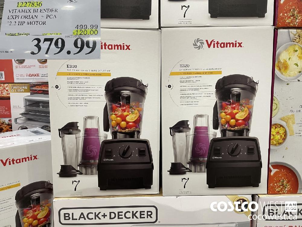 1227836 VITAMIX BLENDER EXPLORIAN PCA 2.2 HP MOTOR EXP. 2020-11-29 $379.99