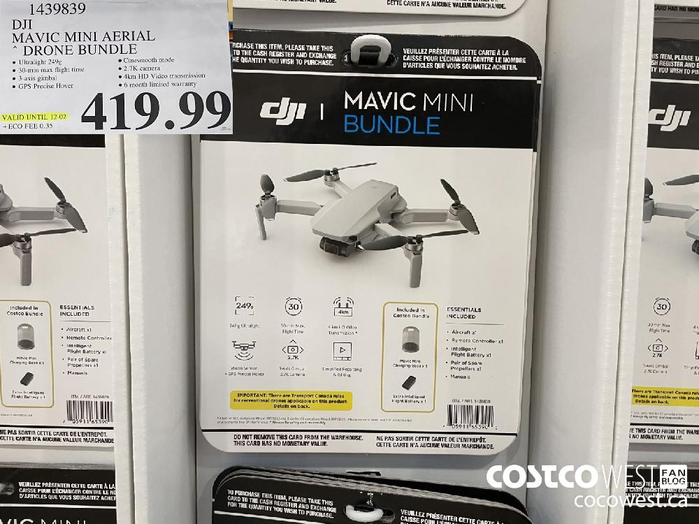 1439839 DJI MAVIC MINI AERIAL DRONE BUNDLE VALID UNTIL 12-02 $419.99