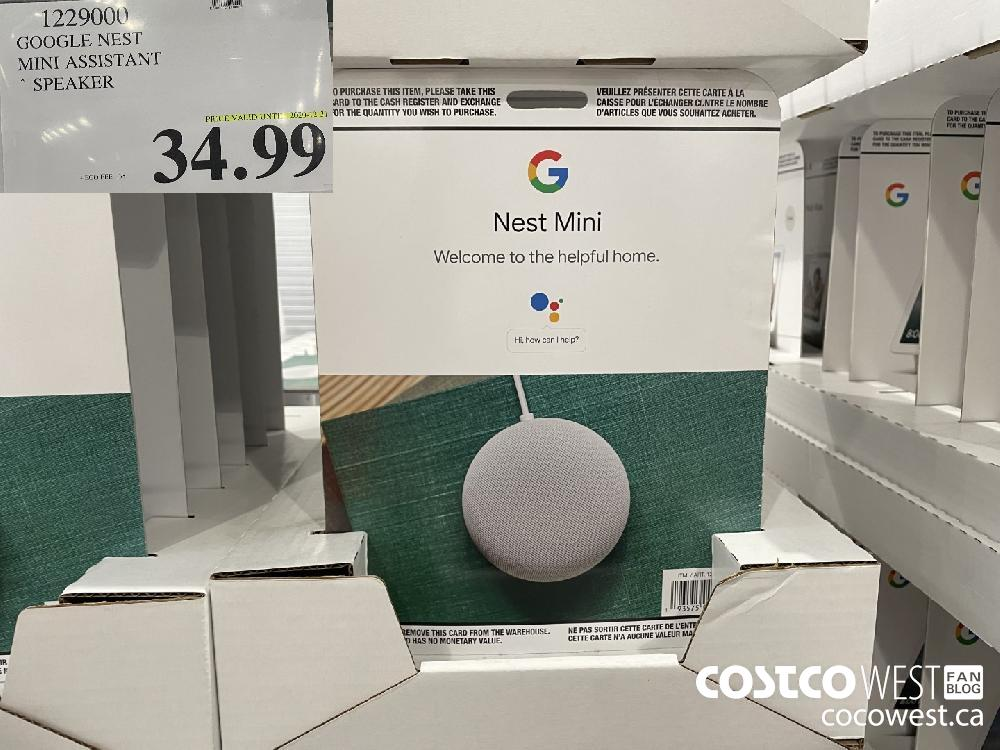 1229000 GOOGLE NEST MINI ASSISTANT SPEAKER PRICE VALID UNTIL 2020-12-31 $34.99