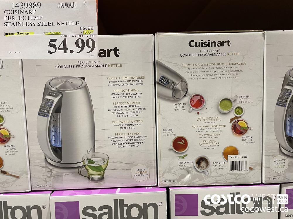 1439889 CUISINART PERFECTEMP STAINLESS STEEL KETTLE EXP. 2020-11-29 $54.99