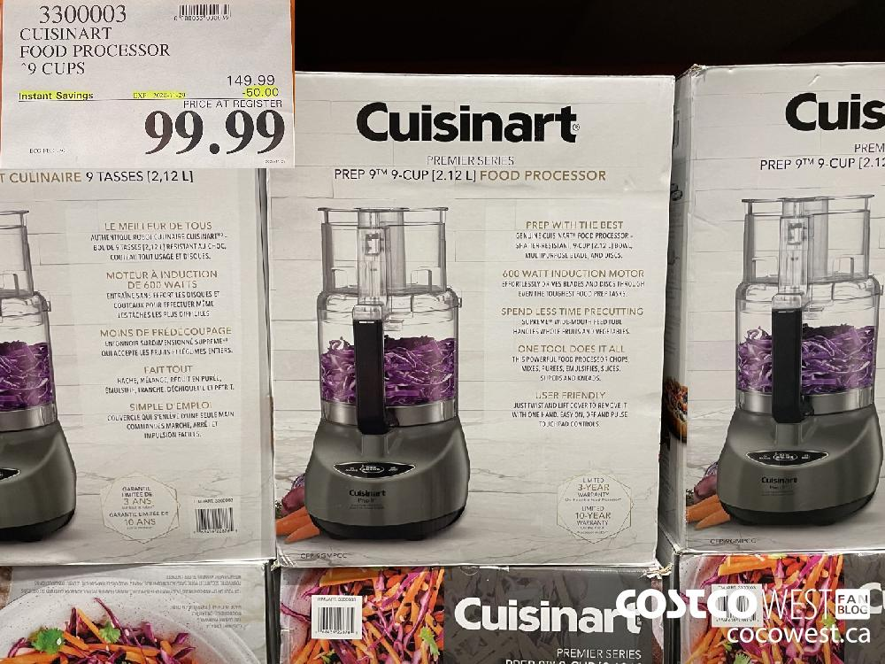 3300003 CUISINART FOOD PROCESSOR 9 CUPS EXP. 2020-11-29 $99.99