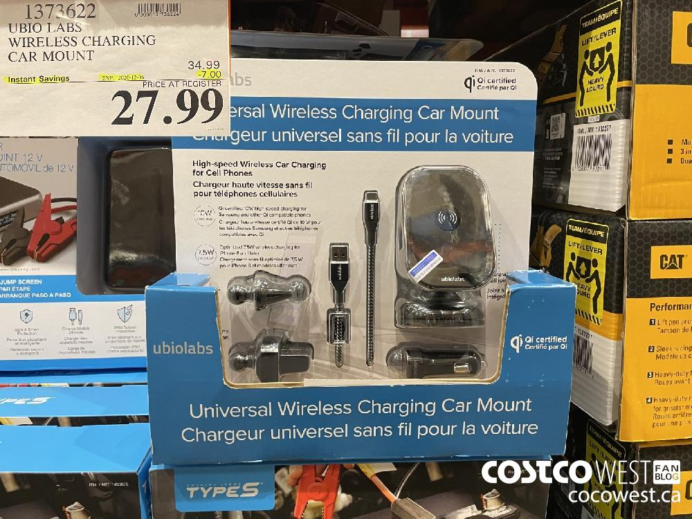 1373622 UBIO LABS WIRELESS CHARGING CAR MOUNT EXP. 2020-12-06 $27.99