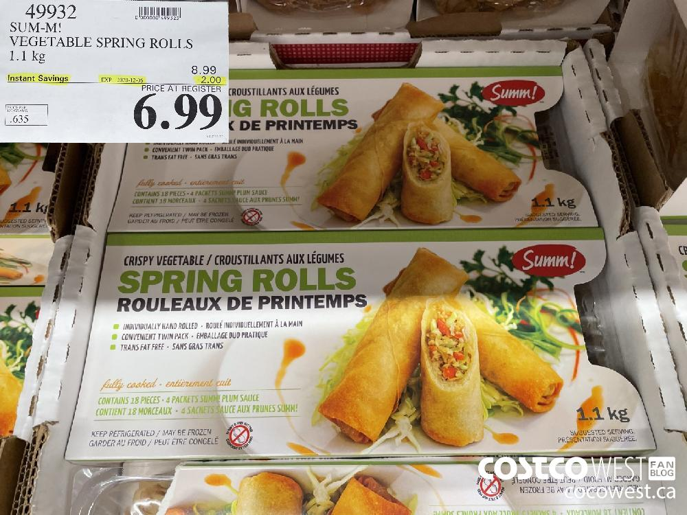 49932 SUM-M! VEGETABLE SPRING ROLLS 1.1 kg EXP. 2020-12-06 $6.99