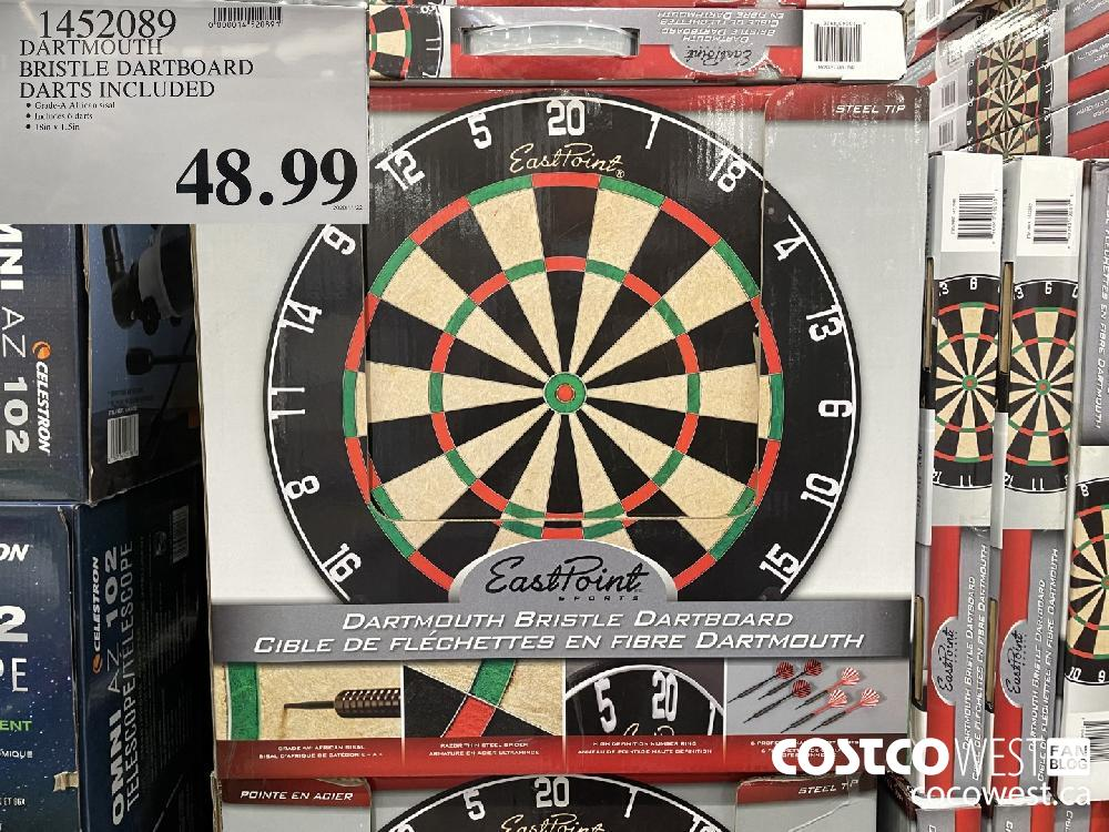 1452089 DARTMOUTH BRISTLE DARTBOARD DARTS INCLUDED $48.99