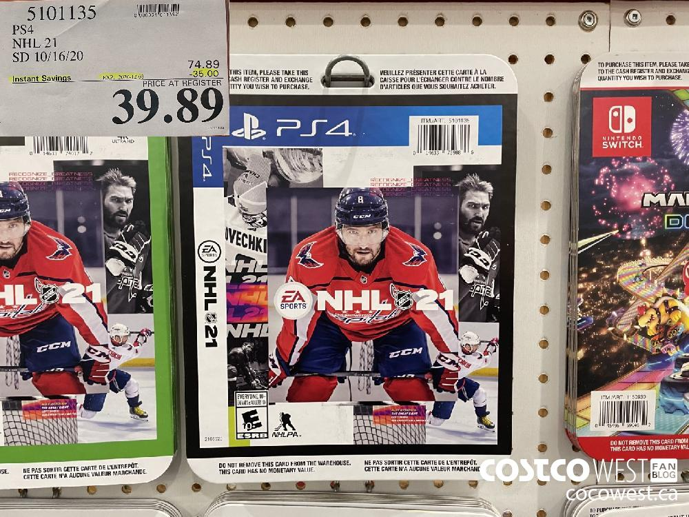 5101135 PS4 NHL 21 SD 10/16/20 EXP. 2020-12-03 $39.89