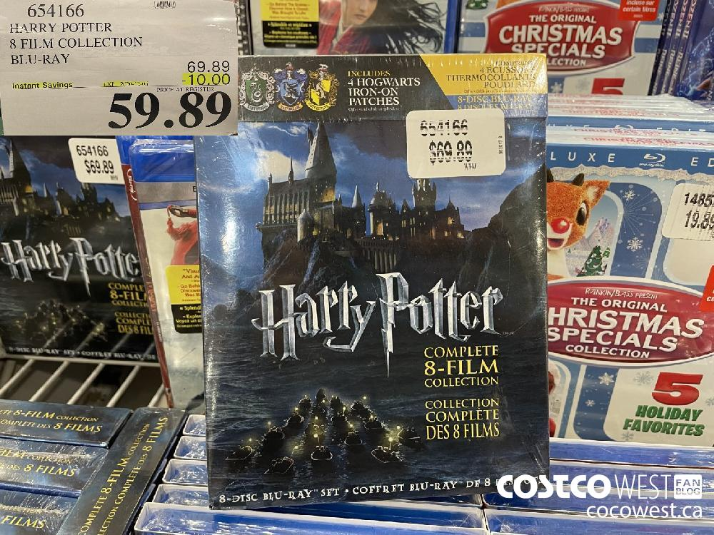 654166 HARRY POTTER 8 FILM COLLECTION BLU-RAY EXP. 2020-12-06 $59.89
