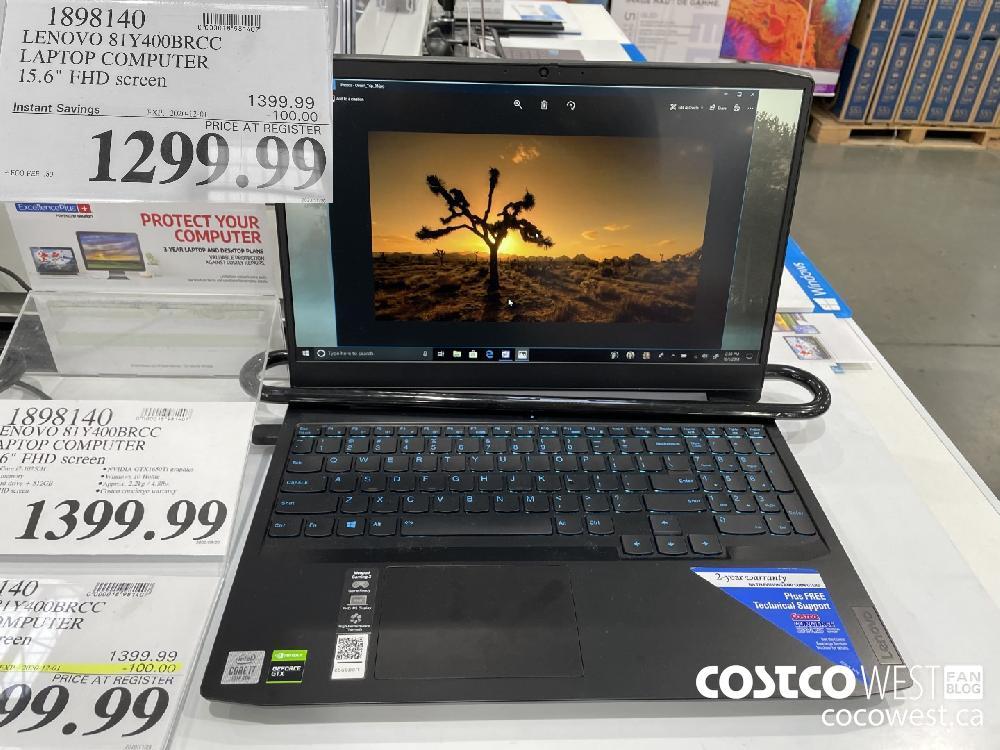 """1898140 LENOVO 81Y400BRCC LAPTOP COMPUTER 15.6"""" FHD screen EXP. 2020-12-01 $1299.99"""