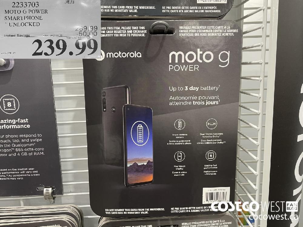 2233703 MOTO G POWER SMARTPHONE UNLOCKED EXP. 2020-11-30 $239.99