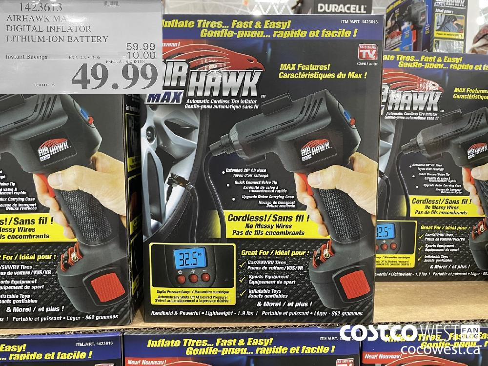 1423613 AIRHAWK MAX DIGITAL INFLATOR LITHIUM-ION BATTERY EXP. 2020-12-06 $49.99